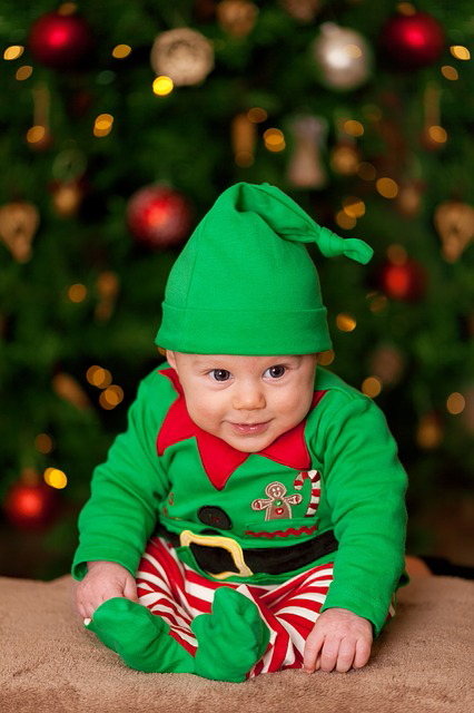Grünes Baby